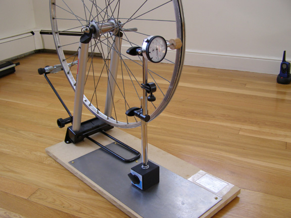 A Dial Gauge Bicycle Wheel Building Stand For 100